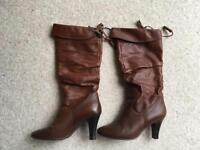 Warm Leather boots Size 37.5 SOLD