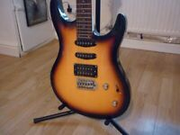 Washburn RX10, korean stratocaster and Stagg amplifier