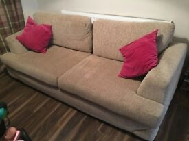 LARGE (7ft) Beige Fabric Sofa from John Lewis