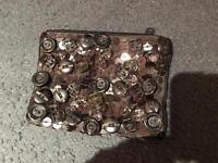 Silver sequin purse