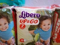 5 x Libero 7 Up & Go Pull Up Pants 16-26KG (18 Pack)