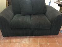 FABRIC SOFA IN BLACK 2 SEATER MINT CONDITION