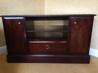 Corner Tv unit stag, 2 door, 1 drawer.