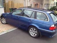 BMW 320i SE Estate 2.2l petrol 170bhp, 2002 , FSH, low mileage, MOT till March 2017, good condition.