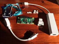 RASPBERRY PI ZERO with header, case and adaptors. MPEG-2 key included!