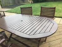 Mahogany Garden Table Set