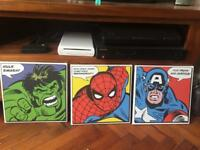 Marvel character 1ft canvas prints