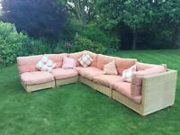 Lovely wicker conservatory furniture.