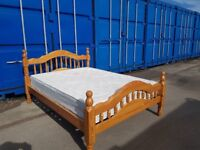 Wooden double bed frame 85£ mattress deliver
