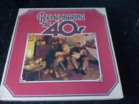 LP Box Sets Remembering The 40's, The Fabulous 50's and The Swinging 60's.