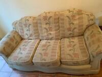 3 seater sofa and armchair for FREE
