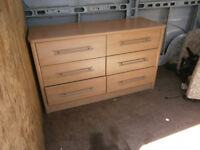 CHEST OF DRAWERS DOUBLE BANK OF 3 DRWERS IN YEOVIL
