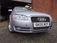 05 AUDI A4 TDI DIESEL 2.0 ESTATE,MOT SEPT 017,3 OWNER FROM NEW,PART SERVICE HISTORY,STUNNING CAR