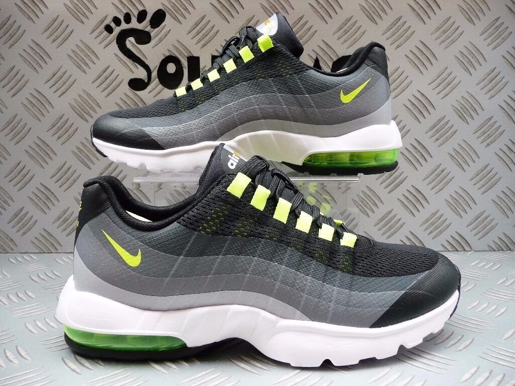 mxbfd Nike Womens Air Max 95 Ultra Black/Volt/Grey Size 6 UK/EUR 40 New