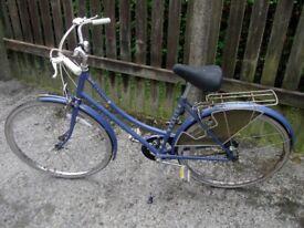 Vintage Chilern Raleigh Ladies Bike Nice Blue Coulour