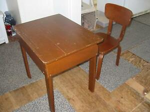 School Desk and Chair - Vintage