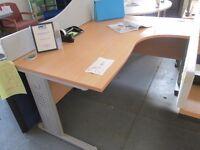 Used Beech Radial Desk
