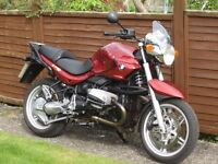 BMW R1150R with panniers. Red.