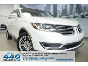 2016 Lincoln MKX | 3.7L, CUIR, TOIT PANO, NAVIGATION