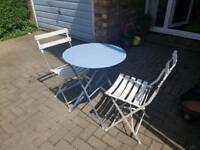 Metal Garden Bistro Table and 2 Chairs