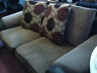 LARGE 2 SEAT SETTEE AND ARMCHAIR