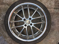 "RS JR4 silver Alloy wheels 17"" inch x7j 4x100 4 x 100 alloys wheel 205 40 17 tyres 4 stud"
