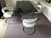 Free Retro Glass Dining Table and 6 chairs