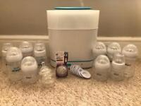 Phillips Avent steriliser and bottles