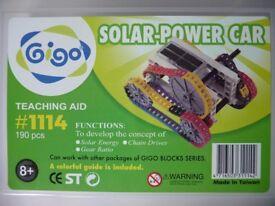 Solar-power car consist of 190 pcs.