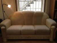 3-seater classic sofa in Ivory colour imported from Italy (200 x 100 cm)