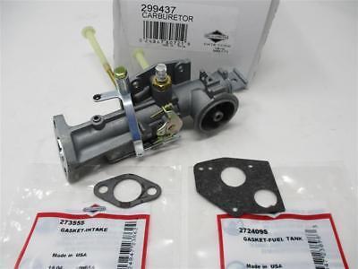 Genuine 299437 Briggs & Stratton Carburetor 297599 Intake 27355S Gas Tank 272409