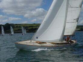 Classic wooden yacht Tinkerbelle for sale. 1938 Tumlare 27' Bermudan Sloop . Excellent condition.