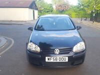 2008 Volkswagen Golf 1.9 Black 5dr hatchback Manual Diesel MOT Nov2018 full service history