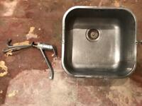 Stainless steel sink and mixer tap