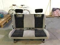 Rear bench reclining seat for van/minivan/transporter/camper
