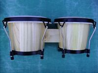 BONGO DRUMS. BRAND NEW!! PROFESSIONAL SIZE. COST £65.00 IDEAL XMAS GIFT. GENUINE BARGAIN!! £35.00