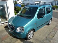 Automatic 2001 Suzuki Wagon R+ 1.3L Low mileage 51500 MOT September 2017 £400 Ono