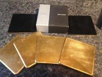 6 Coasters John Lewis Gold Leaf