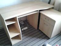 ComputerTable and Pull Out Cupboard