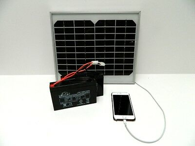 Solar Panel Charger for Microcat Bait Boat Battery with USB for Phone