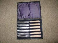 Vintage Cased Knives
