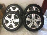 PEUGEOT 4 tires Tyres & Alloys