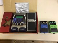 Boss Compression Sustainer & Super Phaser & Digitech RP200 Guitar Pedal/Footpedal