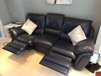 Navy 3 & 2 recliner sofas