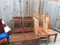 Dining table chairs 4+4