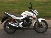 2017 Honda CB125F. Excellent Condition. Low Mileage.