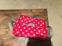 Cath Kidston red dot changing bag with mat