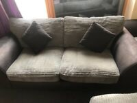 4 seater L shape and 2 seater sofa for sale