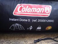Coleman instant dome tent for 5