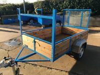 NEW 7ft x 4ft CAR TRAILER LONG RAMP TAIL DOOR